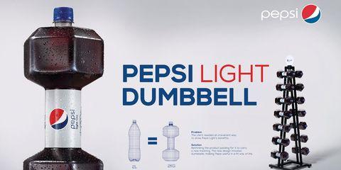 Pepsi Light Dumbbell Packaging