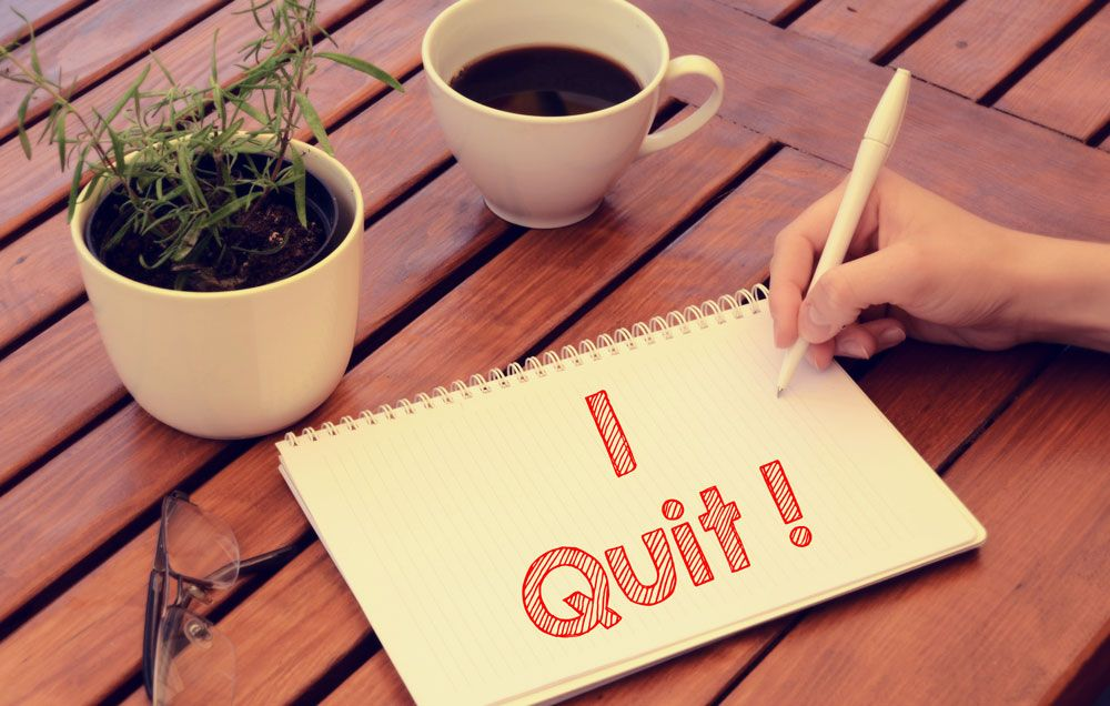 A Woman Quitting.