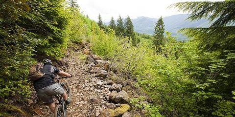 technical uphill climb mountain bike rocks