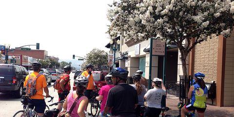 A Covina Street cycling skills class.