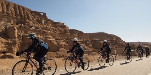 Afghan Women's Cycling Team paceline