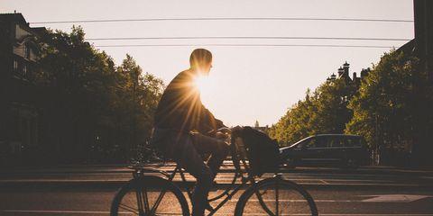 Cyclist at Sunrise