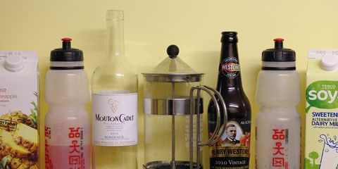 Various drinks.