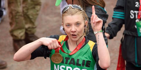 Natalie Dormer runs London Marathon