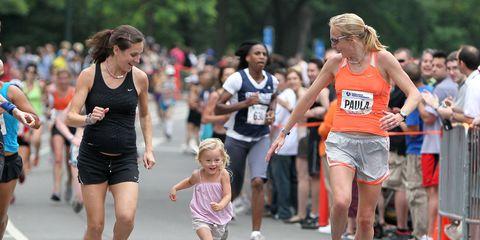Kara Goucher and Paula Radcliffe run while pregnant