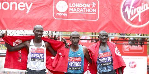 Top three men 2015 London Marathon