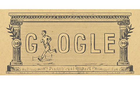 Google Doodle Features 1896 Olympic Games
