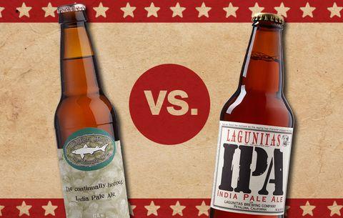 BeerFight! Lagunitas IPA vs  Dogfish Head 60 Minute IPA