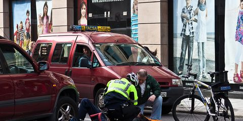 A cycling accident in Dublin.