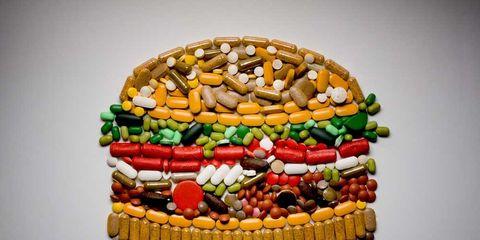 hamburger made of pills