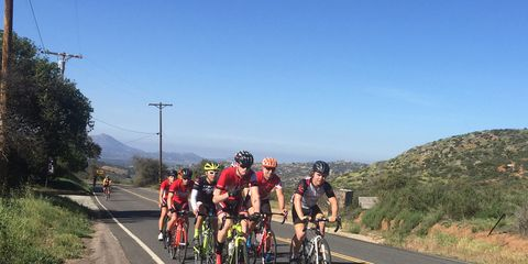 A bicycle group ride.