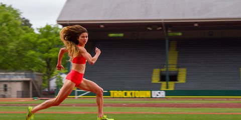 Alexi Pappas in the movie, Tracktown