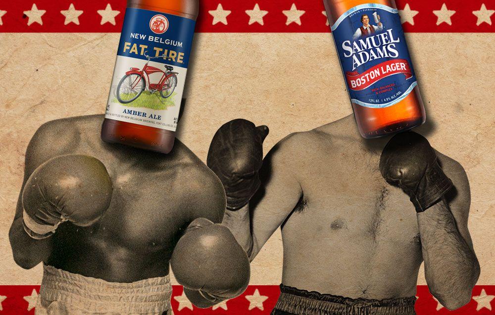 Beerfight New Belgium Fat Tire Vs Samuel Adams Boston Lager