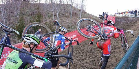 A cyclocross race.