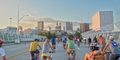 cycling atlanta critical mass bike ride
