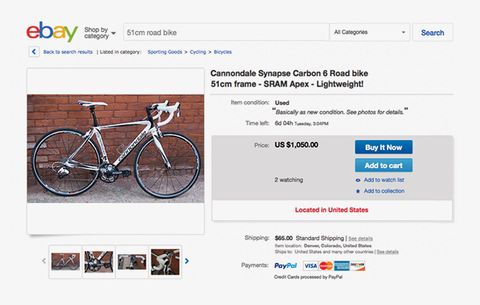 Selling Bikes Bike Parts And Old Cycling Kit On Ebay Bicycling