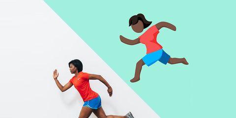 Female runner emoji