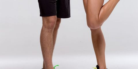 Knees of two runners