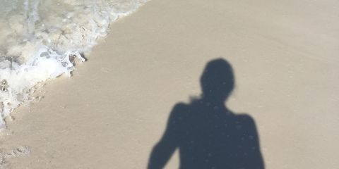 Kristin Armstrong's running shadow