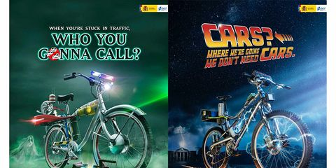 The General Traffic Department of Spain Bike Posters