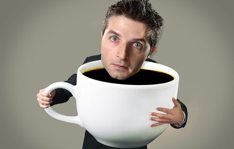 man drinks too many cups of coffee ile ilgili görsel sonucu
