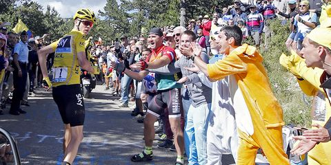 chris froome running tour de france 2016 stage 12
