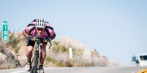 race across america cyclist riding in the drops aero sunny