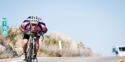 race across america cyclist riding in the drops aero sunny