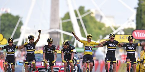 chris froome team sky stage 21 2016 tour de france victory