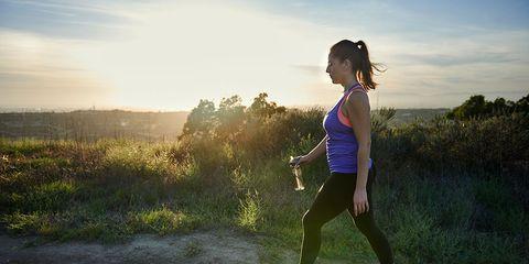 Outdoor walking workout