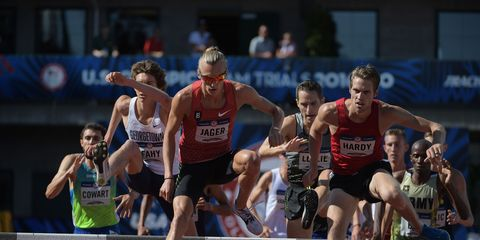 Evan Jager at the 2016 Olympic Trials