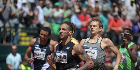 Boris Berian leads the early round of the 800 meters