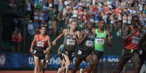 Bernard Lagat in the men's 5000, 2016 Trials