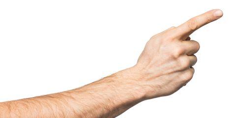 Man finger