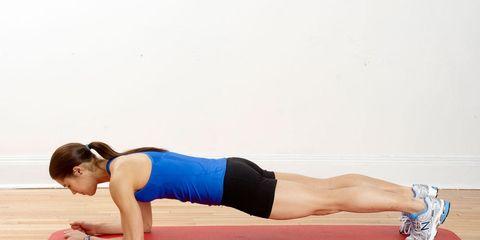 Plank strength training exercise