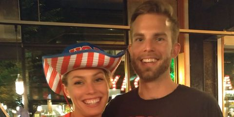 Colleen Quigley and her brother, Dan Quigley