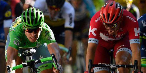 Peter Sagan sprints to win stage 16