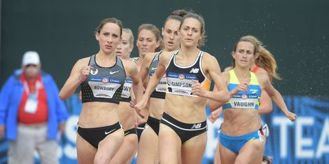 Semifinal of the women's 1500 meters at the Olympic Trials