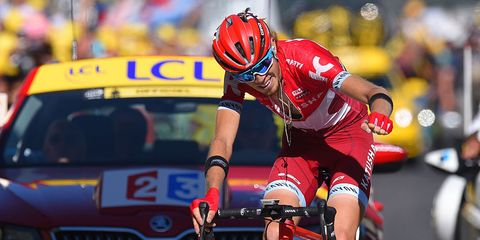 Zakarin wins stage 17 of tour de france
