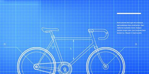 A bike schematic.