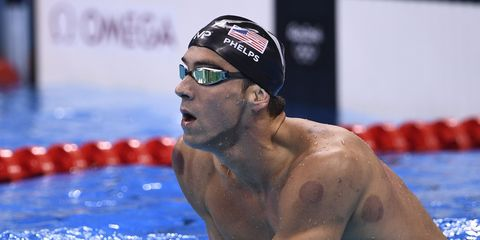 Michael Phelps at the Rio Olympics.