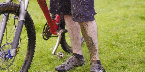 Muddy cycling kit.