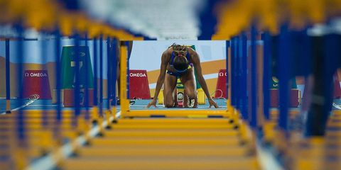 Track at Olympic Stadium in Rio