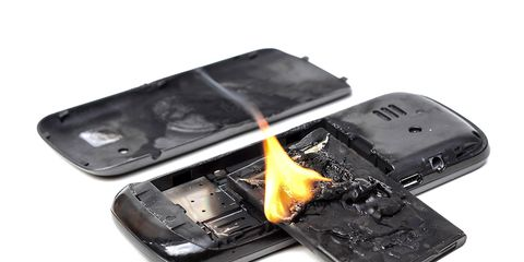 iphone fire bike crash