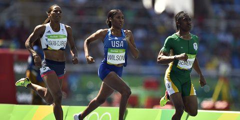Caster Semenya in the 2016 Olympics