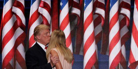 Ivanka Trump hugging Donald Trump