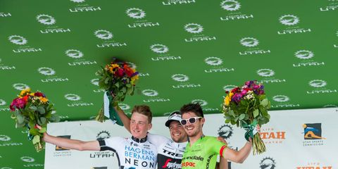 The winners of stage 5 of Tour of Utah