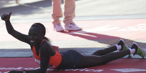 Florence Kiplagat 2015 Chicago Marathon champion