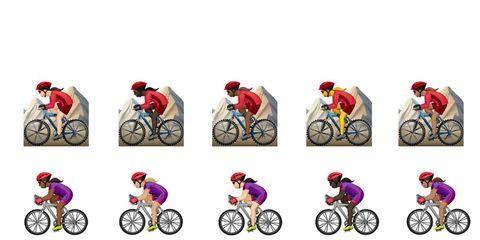 girl bike emojis