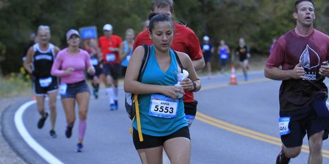 Mom breast pumps during race